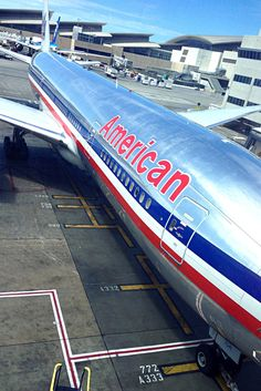 American 777/LAX airport