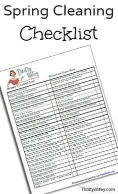 Spring Cleaning Checklist (Free Printable)
