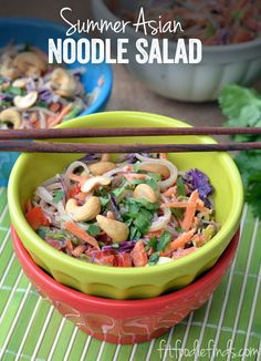 Summer Asian Noodle Salad #FitFluential via FitFoodieFinds