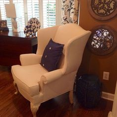 Painted Fabric Wing Chair-it Works!