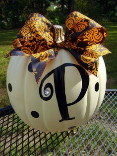 Family Name Personalized Pumpkins..ADORABLE. $25.00, via Etsy.