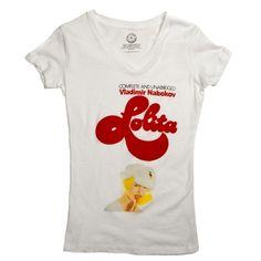 Lolita book cover t-shirt--LOVE this!! <3 Lolita...