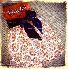 So cute! Send in a college T-shirt and they make a game day dress!