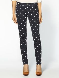Dotted jeans.