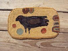 Take Joy....Take Peace: Bird rug w/quillies