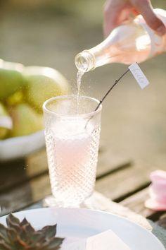 Fizzy pink lemonade