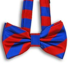 Red and Blue Striped Bow Ties $6.95