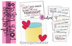 Playdough gift labels -free printable