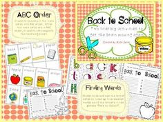 two FREE back to school activities