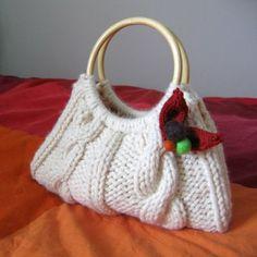 knitknitknits: Cable Knit Purse,  free pattern