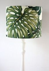 monstera leaf standard lamp