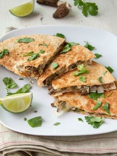 #Recipe: Morel Mushroom and Leek #Quesadillas with Goat #Cheese