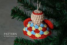 Crochet Pattern - Crochet Angel Ornaments
