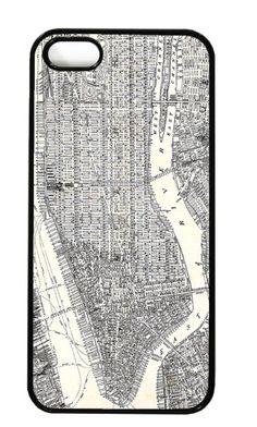Vintage Manhattan map iPhone case. Love!