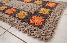 Tapete Labirinto Caminho de Flores   CROCHES DA ELSA   24431B - Elo7