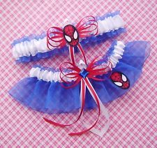 I would never wear this but its cute..Spiderman wedding garter
