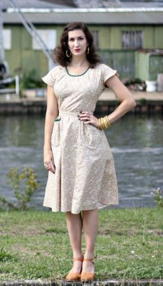 "Here is the newest ""Fleur"" dress in perfect colors for fall."