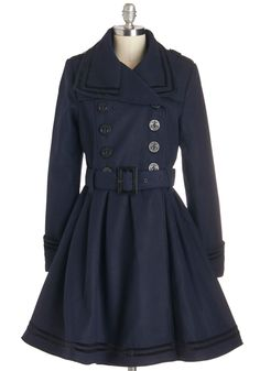 A Welcomed Moment Coat in Navy #modcloth #ad *lovely