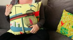 Sewing in a Straight Line by Brett Bara – How to Sew the Easiest Zippered Throw Pillow @Brett Johnson Bara