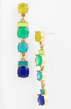 Kate Spade Earrings. Love the colors!