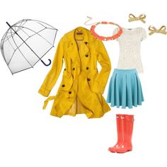 A great work outfit for a rainy day!
