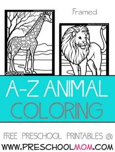 A-Z animal coloring