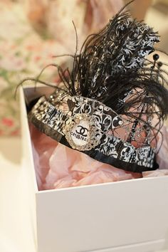 Who doesn't need a Chanel feather tiara!?