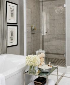 #Luxurious #Bathroom #pure #white #pictures #flowers #modern #traditional #calm #grey