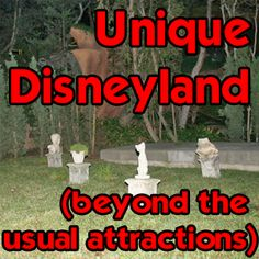 Updated August 2014 - check out unusual parts of Disneyland that most tourists don't know about.