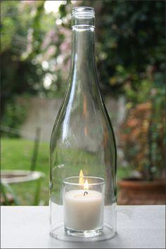 Wine bottles glasses on pinterest for How to smooth cut glass bottles