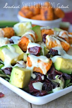 Loaded Sweet Potato Tot Salad