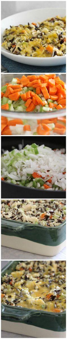 Cheesy Chicken and Wild Rice Casserole, a Pinterest favorite!