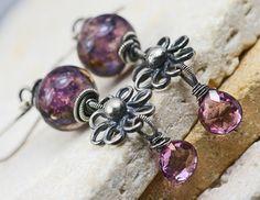 Spellbound Glass Lampwork & Pink Topaz by JewelsByLDesigns on Etsy, $58.00