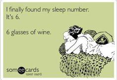 6 glasses of wine