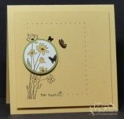 stamp sets, cards in brown colors, white circl, pretti card