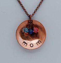 Mom pendant...also Grandma....   Must try!  #ecrafty @ecrafty #stampedmetalblanks #jewelrysupplies  #stampedmetaljewelry #necklacesupplies #ballchainnecklaces #jumprings #metalstampingblanks