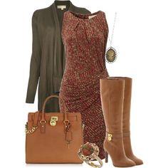 work outfits -- Michael Kors shirt dress