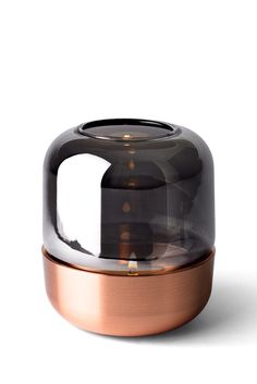 SMOKE Meets COPPER ~ Hurricane Lamp  Designed by #NormArchitects