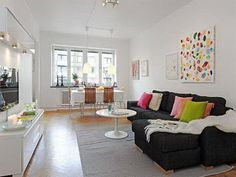 colorful decorating ideas for apartment living rooms