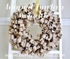 burlap wreaths, burlap crafts, craft ideas