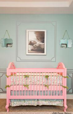 Precious pink crib