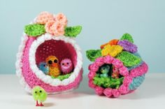 """Free pattern for """"Panorama Eggs"""" by Norma Lynn Hood...Love these!"""