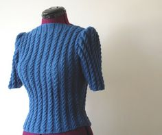 Flossy and Dossy: Quick Knit 1940's Style Sweater // uses 300g of aran weight
