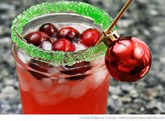 Cranberry margaritas! Holly and Jolly - perfect for a holiday party :)
