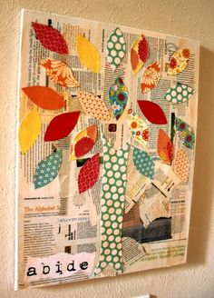 collage art    Arbre