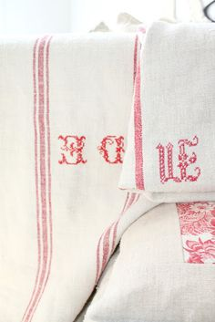 bed linens . . .