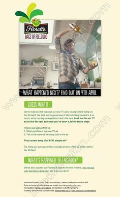 Company:Florette  Subject: Feeling good this Friday  INBOXVISION, a global email gallery/database of 1.5 million B2C and B2B promotional email/newsletter templates, provides email design ideas and email marketing intelligence. www.inboxvision.c... #EmailMarketing  #DigitalMarketing  #EmailDesign  #EmailTemplate  #InboxVision  #SocialMedia  #EmailNewsletters