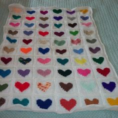 Heart Patchwork blanket