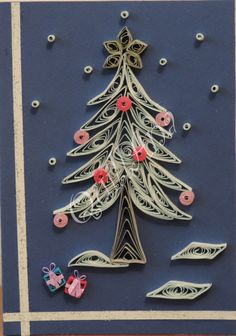 paper quill, quill misc, tree, quill christma, christma quill, quill inspir, quill art, filigrana 1quill, card