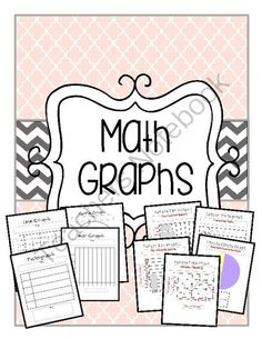Math Graphs - Line Graph - Bar Graph - Pictograph - Circle Graph / Pie Chart from The Resourceful Teacher on TeachersNotebook.com -  (20 pages)  - This math bundle includes Math Graphs. There are various versions of each graph to accommodate multiple kinds of data. Math Graphs - Line Graph - Bar Graph - Pictograph - Circle Graph / Pie Chart